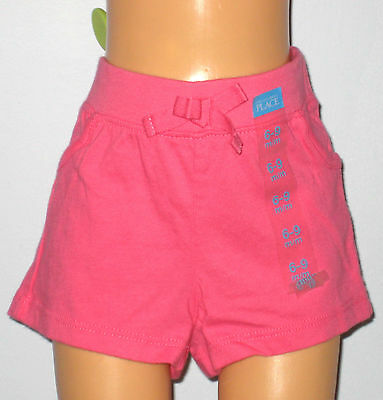 New The Children's Place Size 9-12 Months Girls Pink Shorts