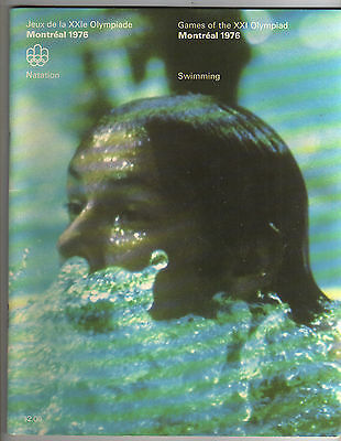 Orig.Complete PRG    Olympic Games MONTREAL 1976  -  SWIMMING  !!   VERY RARE