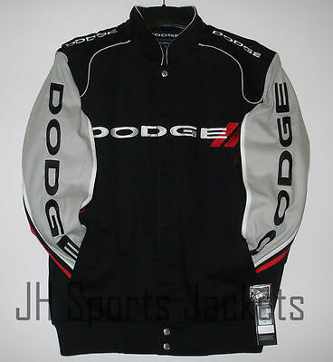 SIZE L JH Design Dodge 100 Years Racing Embroidered Cotton Jacket  LG