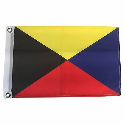 Zulu Letter Nautical/Boating 12 X 18 Polyester Flag with Grommets