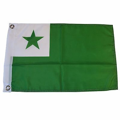 "Esperanto Language 12"" X 18"" Polyester Flag with Grommets #L1"