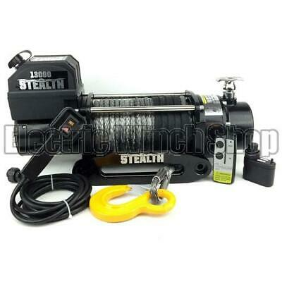 Stealth 13000lb Wireless 12v 4x4 Winch with Synthetic Rope