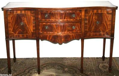 Antique Georgian Style Serpentine Fronted Mahogany Sideboard [PL683]