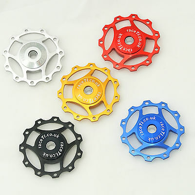 Jockey Wheel Derailleur Mech CNC Pulley Shimano SRAM Red Black Silver Gold Blue