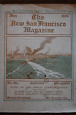 May 1906 San Francisco Earthquake MAGAZINE Rebuilding Propaganda!!! Vol.1 #1.!!!