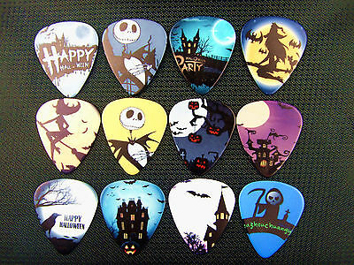 10pcs 0.71mm Skull Witch Party Nightmare Before Christmas Hallowmas Guitar Picks