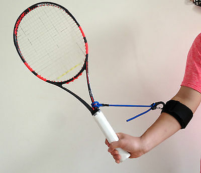 Tennis swing wrist training aid for forehands, backhands and volleys PermaWrist