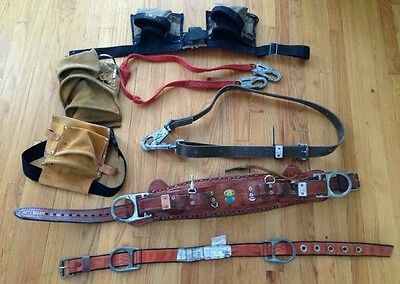 Bashlin Industries Tool Belt w/ climbing strap, pouches plus other tools
