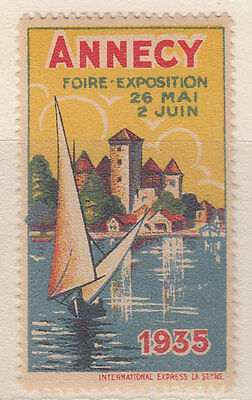 Erinnofilo Foire Exposition Annecy 1935 -  Erinnophilie France