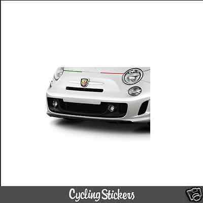 Abarth 500 Italian Flag Bonnet/Front Bumper Vinyl Decal | Sticker | Fiat