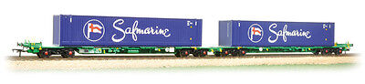 Bachmann 37-314 Intermodal Bogie Wagons with 2 x 45' Safmarine Containers T48Pos
