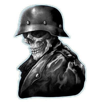 Death Skull Helmet Bike Motorcycle Helmet Vehicle Car Truck Window Decal Sticker