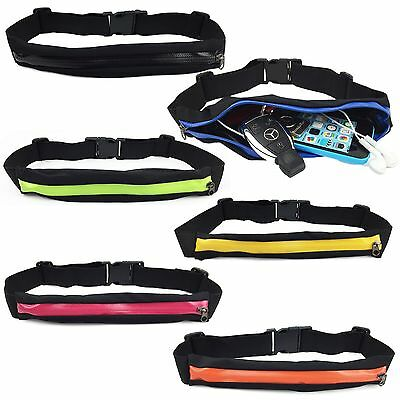 Waist Running Zip Belt Lycra Bum Bag Pocket Hiking Cycling Jogging Cycling Pouch