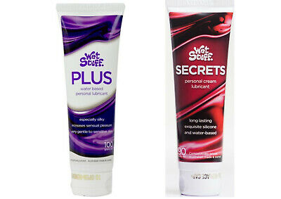 TWIN PACK WET STUFF SECRETS And PLUS SEX LUBRICANT Oral Vaginal Anal Toys Lube