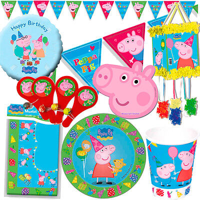 Peppa Pig Birthday Party Supplies Plates Cups Napkins Balloons Decorations