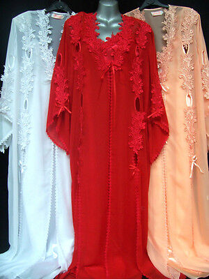 SET: GOWN ROBE & ADJUSTABLE STRAP NIGHTDRESS CHEMISE(FULL LENGTh