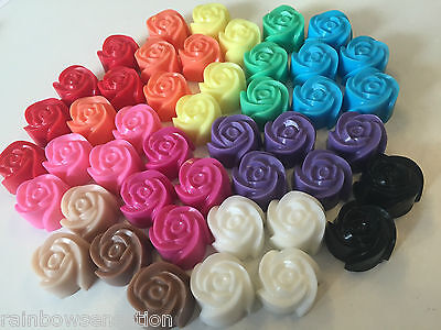 50  x Mini Rose Soap - Wedding Birthday Party Favours - Scented - Oq BULK