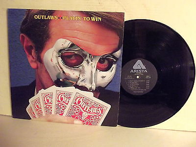 "Lp-Outlaws-""playin' To Win-Stampa U.s.a. 1978-N. Mint"
