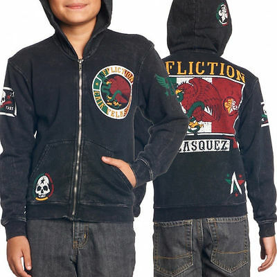 Affliction Cain Velasquez Youth Hoodie UFC 200 Size SMALL, Childrens Hoody