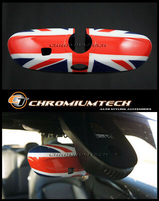 MK3 MINI F54 F55 F56 F57 F60 Union Jack Rear View Mirror Cover for Auto Dimming