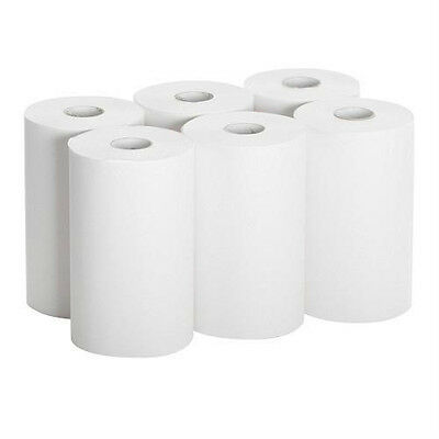 """26610 Paper Towel Roll, 1-Ply Hardwound, 9"""" Width x 400' Length, (Pack of 6)"""