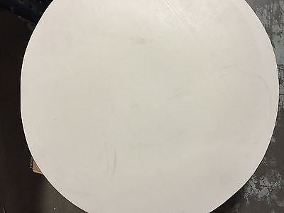 "White EPDM Rubber Disc Gasket Material - 20"" Diameter x 3/32"" Thick - 1 PCS"