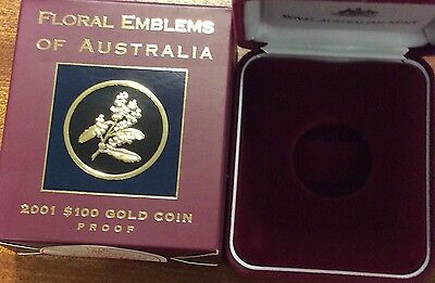 empty 2001 floral emblems of Australia  empty box and certificate