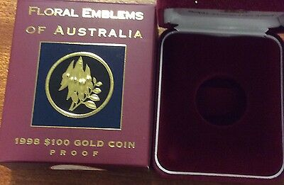 empty 1998 floral emblems of Australia  empty box and certificate