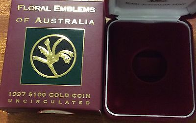 empty 1997 floral emblems of Australia  empty box and certificate