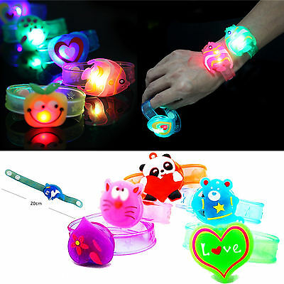 High Flash LED Light Glow Bracelet Kids Gift Costumes Birthday Party Favor Props