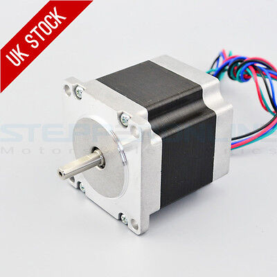 Nema 23 Stepper Motor 1.26Nm 2.8A 4-wires 6.35mm Shaft DIY CNC Robot 3D Printer