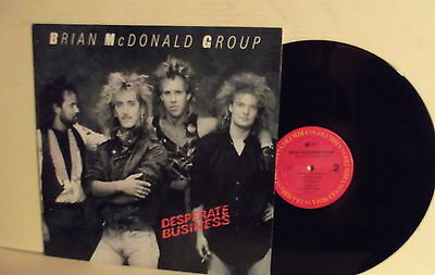 Brian McDonald Group ‎– Desperate Business-U.S.A. 1987-N.MINT