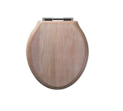 Roper Rhodes Greenwich Limed Oak Solid Wood Toilet Seat - Soft Close Hinges