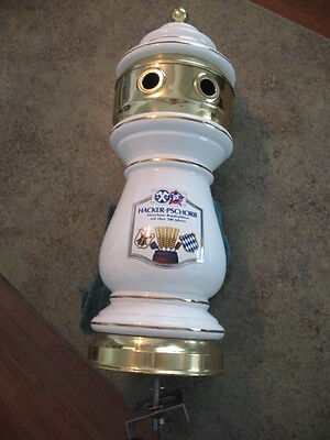 Beer Tap Faucet Dispenser Draft Double Ceramic Tower Keg HACKER-PSCHORR Brewery