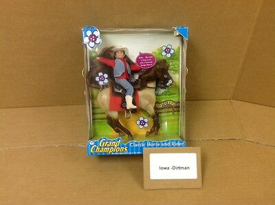 Grand Champions Classic Horse And Rider Cowgirl 50212 Vintage Horse Play Set New