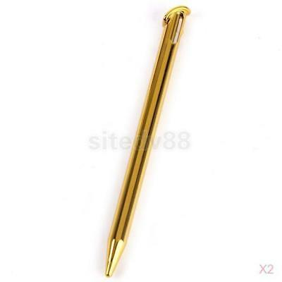 2x Plastic Stylus Touch Screen Pen for New Nintendo 3DS LL/XL Console Golden