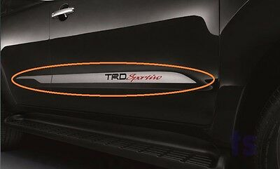 "Side Door Silver Sticker ""trd Sportivo"" Decal For Toyota Fortuner Sr5 Suv '05-15"