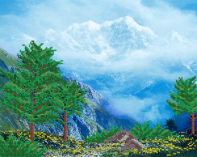 MountaintopsDIY beadpoint kit beaded embroidery seed beads tapestry cross stitch
