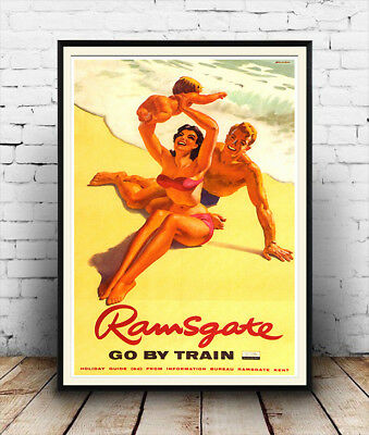 Ramsgate ,  Vintage Railway travel poster reproduction.