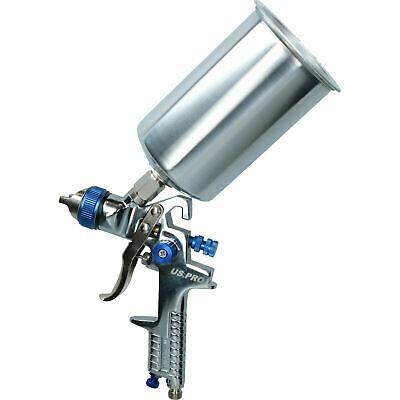 HVLP Spray Paint Gun Kit With Regulator 1.4mm & 2.0mm Nozzles 1000ml Cup AT982