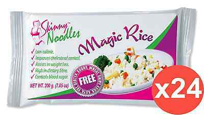 Case of 24 Skinny Noodles-Magic Rice 200g, Shirataki, Konjac,Slim, Dukan,Atkins