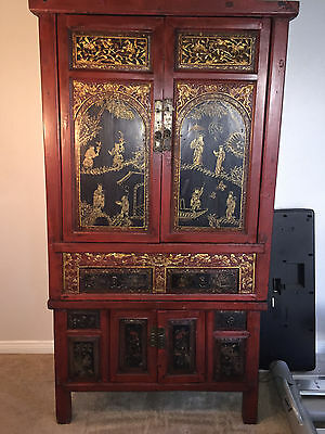 Chinese Antique Tall Storage Cabinet