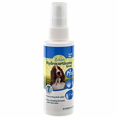 Excel Hydrocortisone Pet Spray with Aloe Relieve Itching Hot Spots Bug Bites 4oz