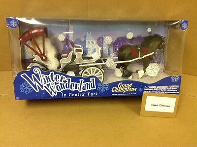 Rare Grand Champions Winter Wonderland In Central Park Horse & Carriage 50213