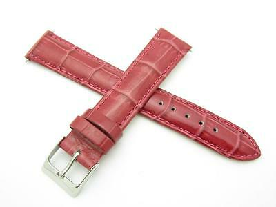 High Quality Genuine Dark Pink Leather 18mm Watch Band Fits Many Brands Watch