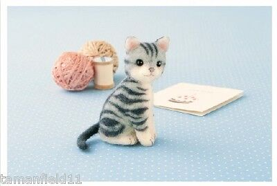 American Shorthair - Needle Felted Cat Making Kit Wool Animal Patterns Kitty F/S