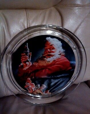 Coca cola 1993 glass round collector serving tray