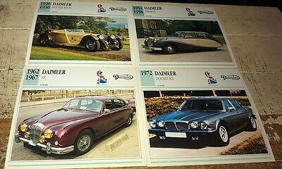DAIMLER  Cars  Colour Collector Cards x 4