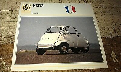 ISETTA BUBBLE  Car  Colour Collector Card