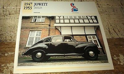 JOWETT JAVELIN Colour Collector Card